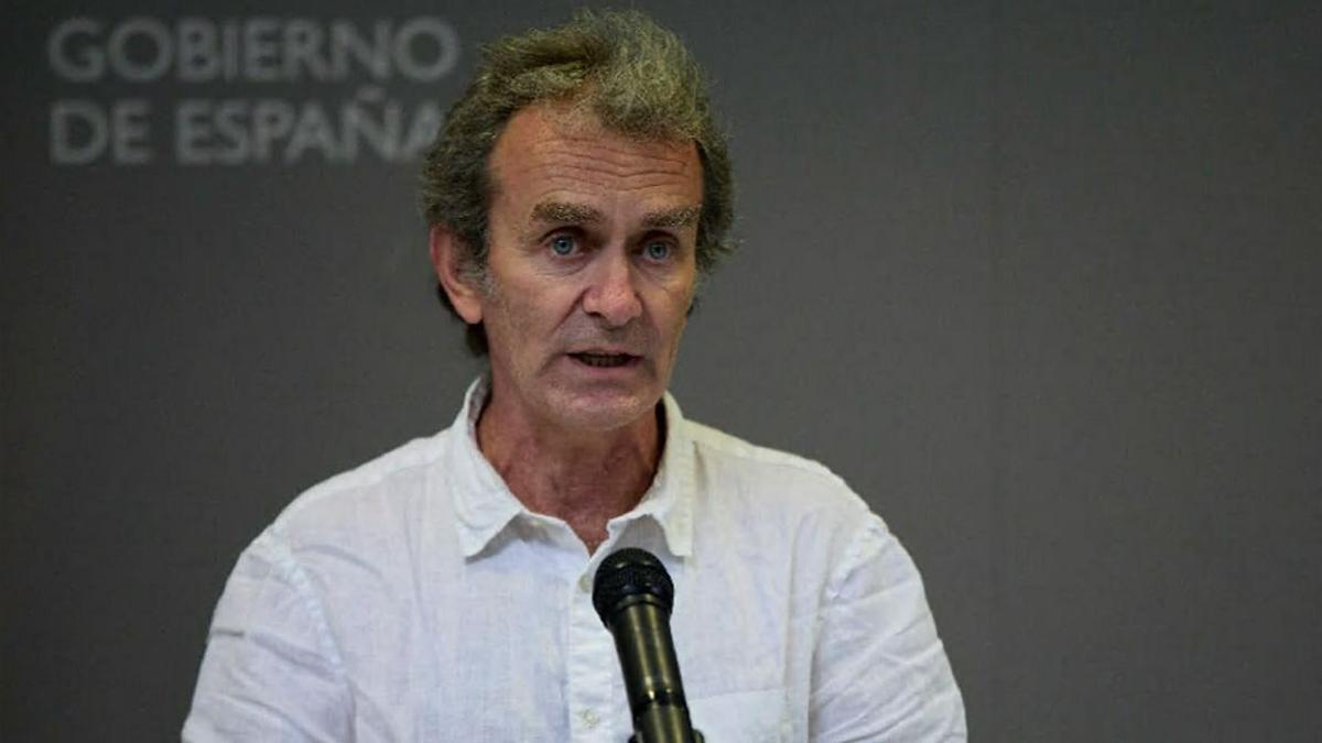 Fernando Simón, en el Ministerio de Sanidad.