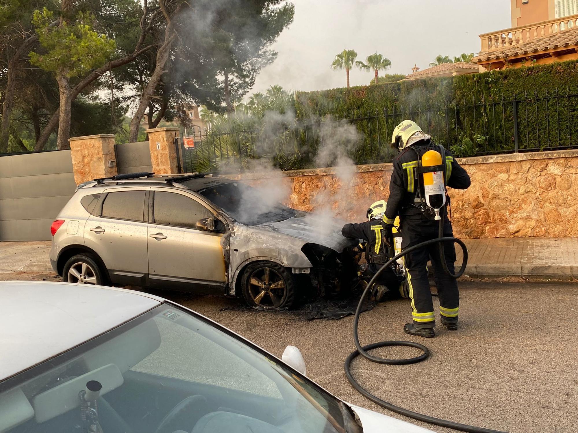 Alarma en Maioris por un incendio en un vehículo