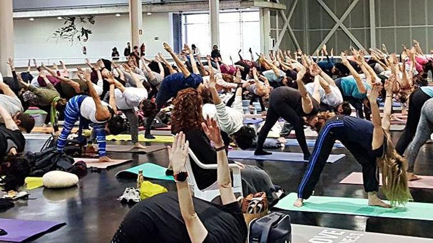 El yoga levanta el vuelo en la ciudad