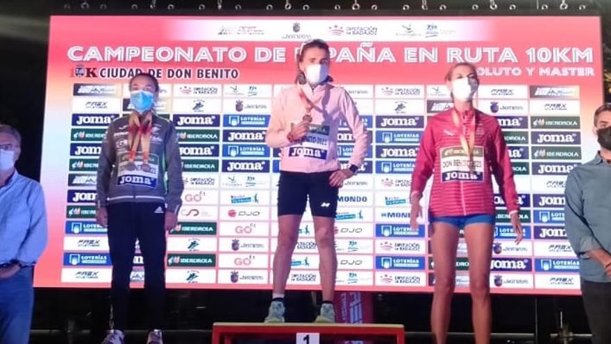 Julia Vaquero, campeona de 10 km en el Nacional Máster