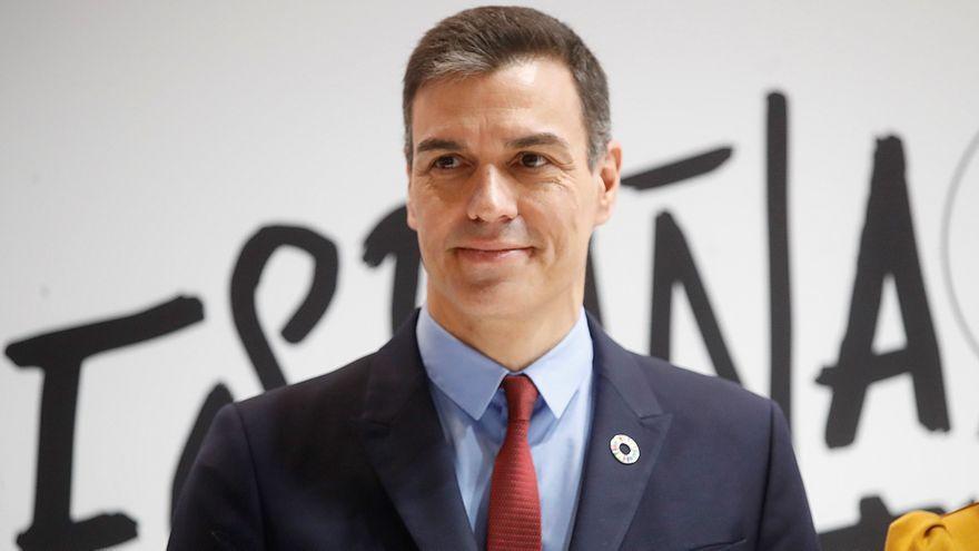 Pedro Sánchez, en la presentación del Certificado Verde Digital, en Fitur