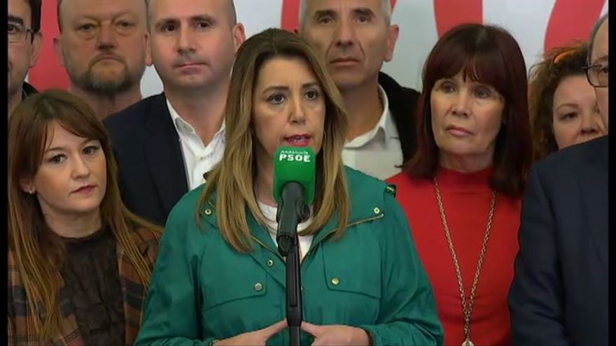 """Susana Díaz: """"A partir de mañana abriré el diálogo con todas las fuerzas políticas"""""""