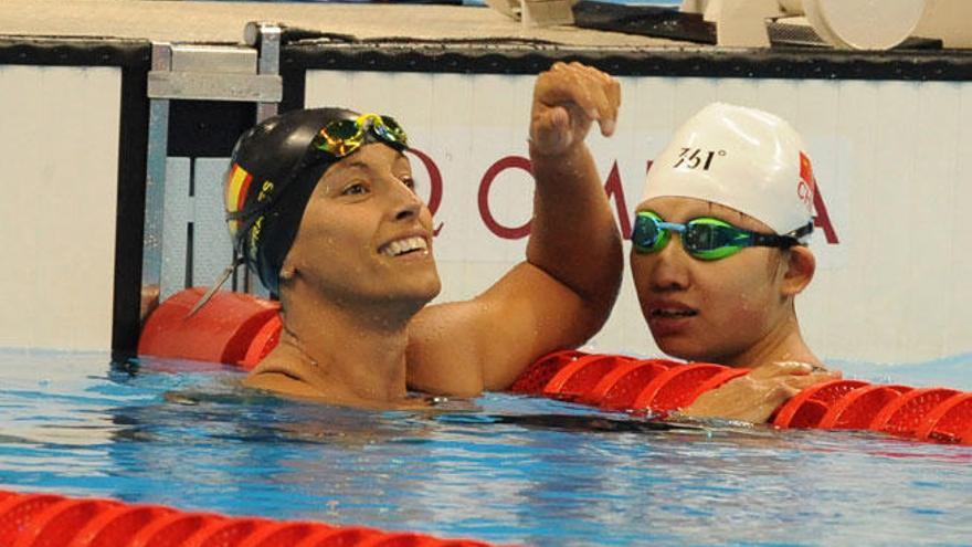 Teresa Perales acaba quinta y no podrá igualar a Phelps