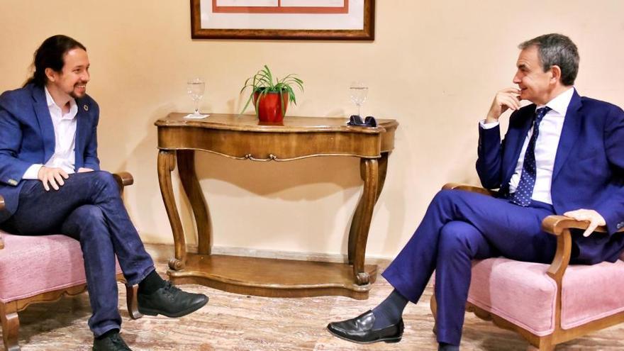 Iglesias y Zapatero se reúnen en San Lorenzo de El Escorial