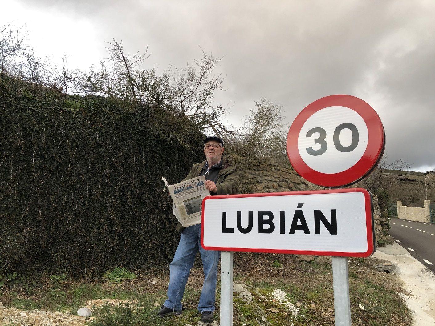 En Lubián (Zamora), donde empezó como profesor. Foto tomada en 2020