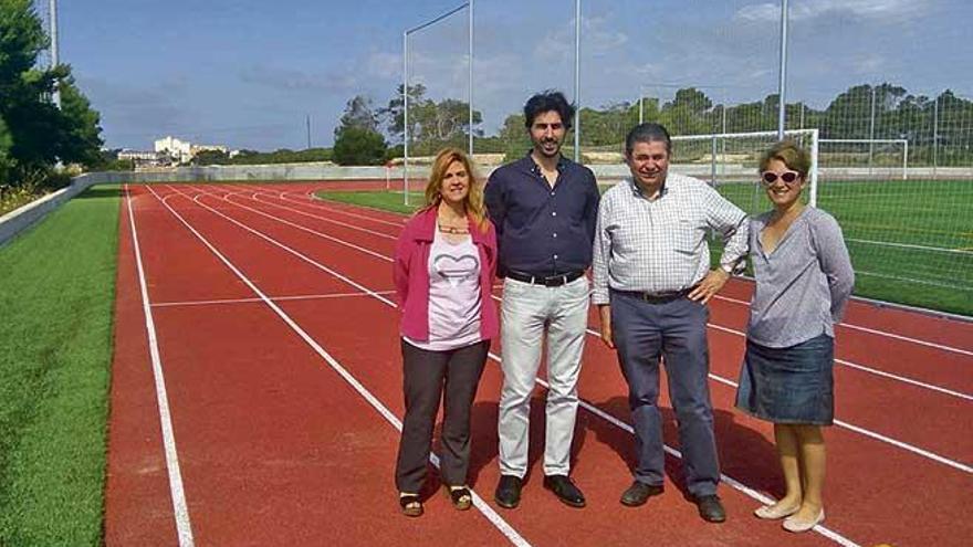 Todo preparado para la segunda fase de reforma del polideportivo de la Colònia de Sant Jordi