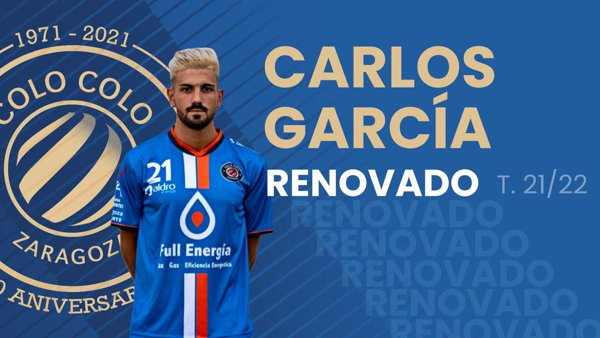 Cartel de la renovación de Carlos García