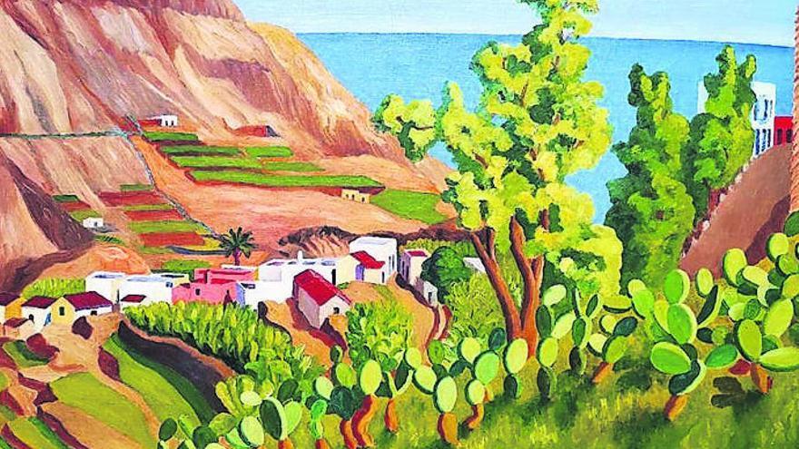 CajaCanarias incorpora a su colección un cuadro de Oramas, el pintor confinado