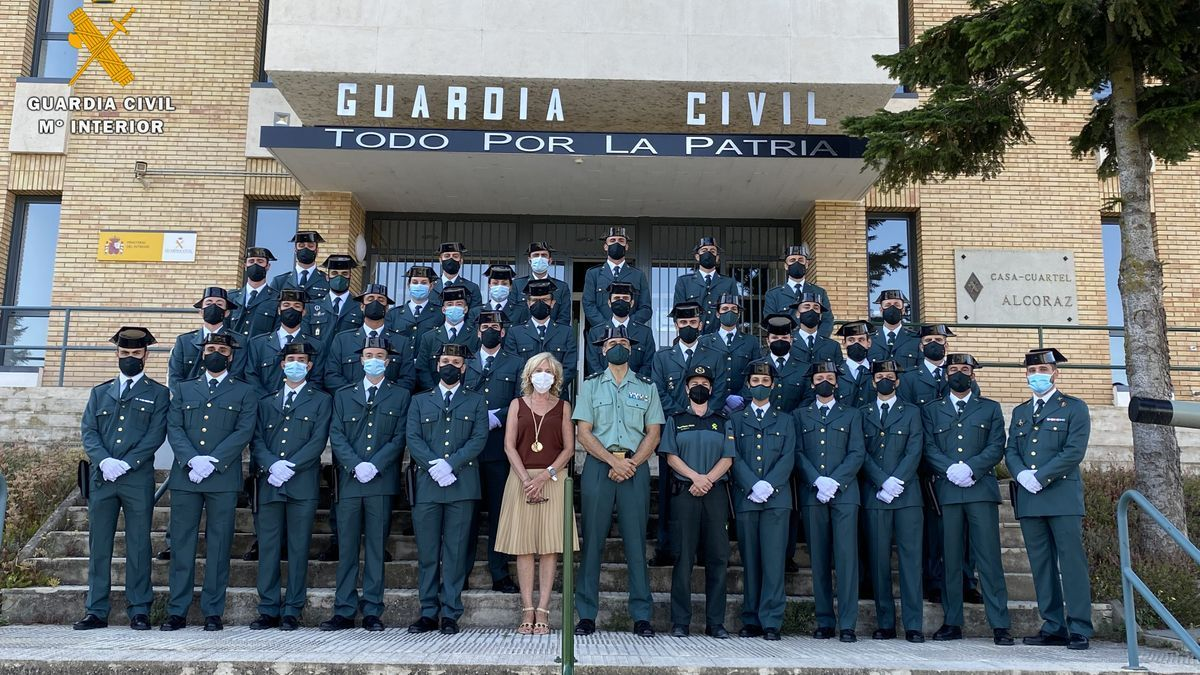 Los nuevos guardias civiles, durante el acto de bienvenida.