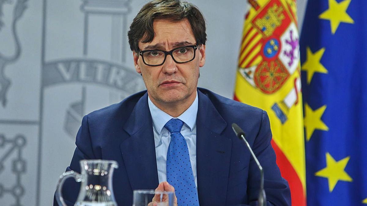 El ministro de Sanidad, Salvador Illa. |   // EUROPA PRESS