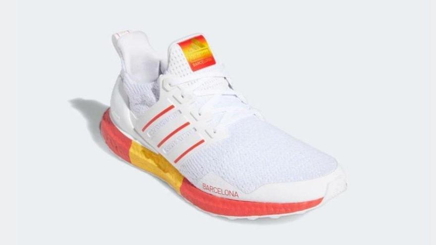Polémica por unas zapatillas Adidas Barcelona que lucen la bandera española