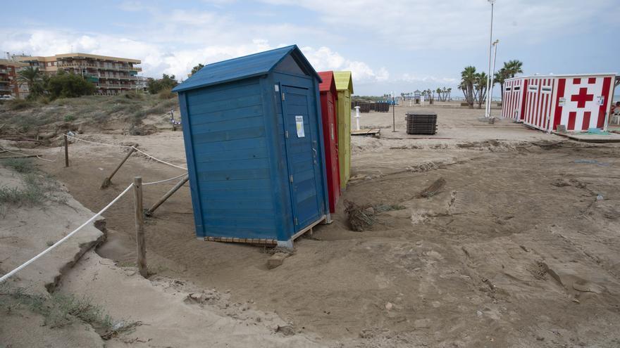Así están las playas de Sagunt y Canet tras el temporal