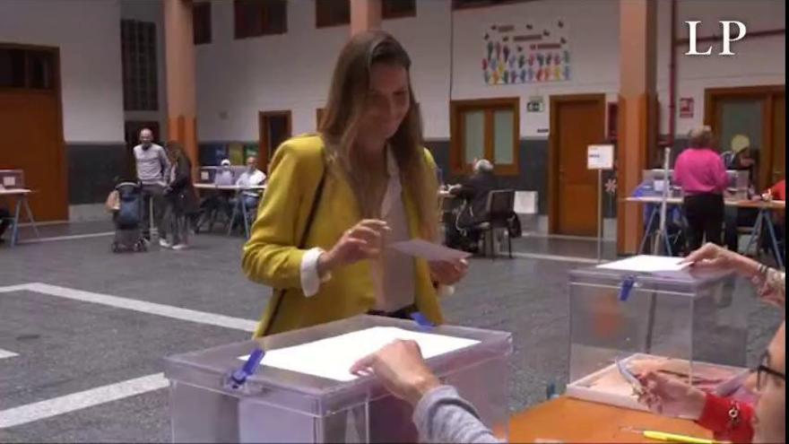 """María Fernández confía en que esta noche """"gane Canarias"""""""