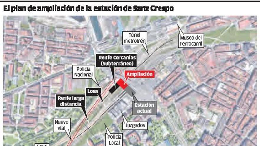Transportes plantea ampliar Sanz Crespo y no hacer otra estación para ahorrar 80 millones