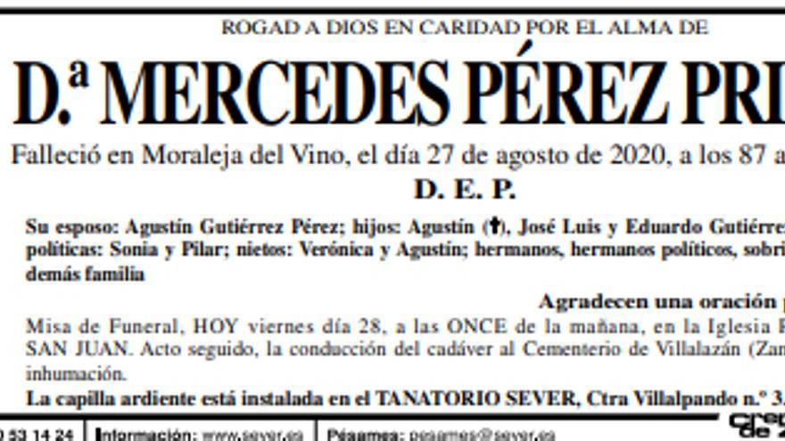 Dª Mercedes Pérez Prieto