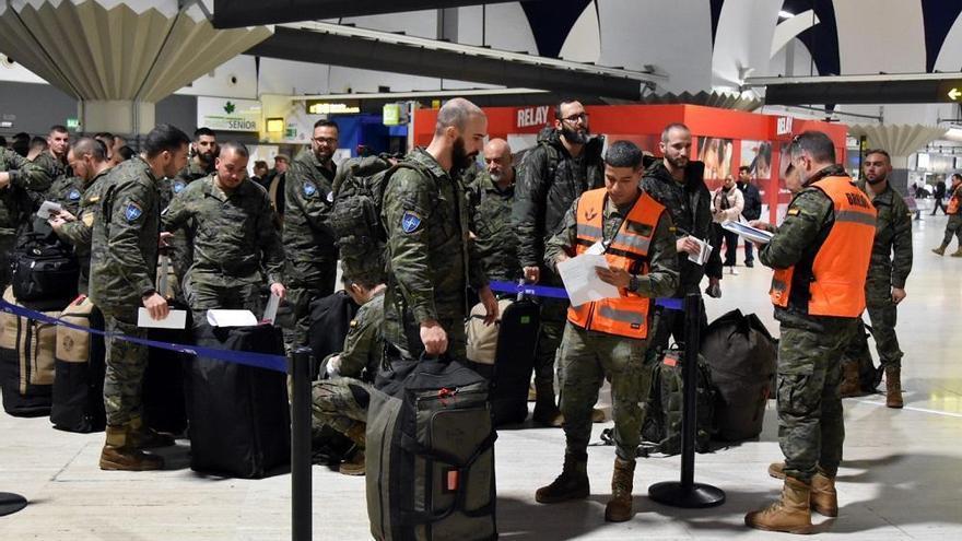 Misión en Letonia: parte la última rotación de soldados de Cerro Muriano