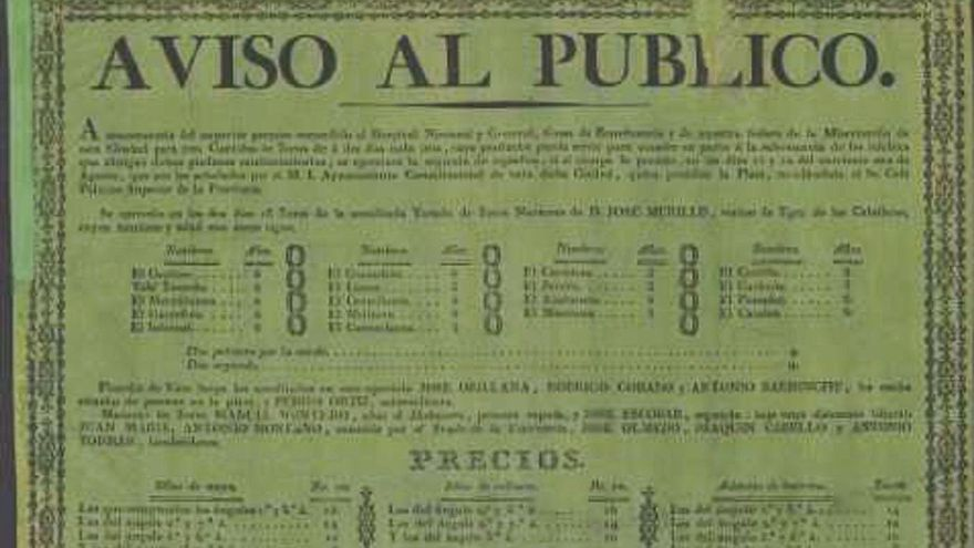 La Biblioteca Valenciana data un cartell taurí de 1822 de la ciutat de València
