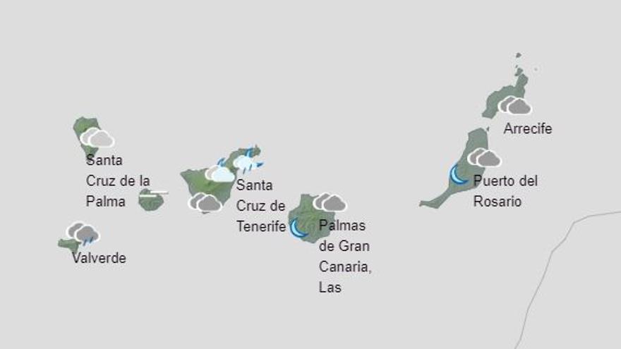 Meteorología anuncia lluvias para mañana martes en Tenerife