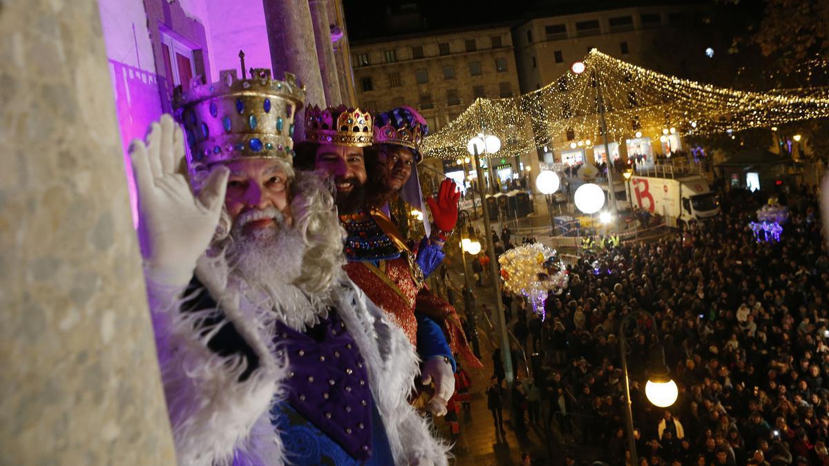 Cabalgata de Reyes Magos en Palma.