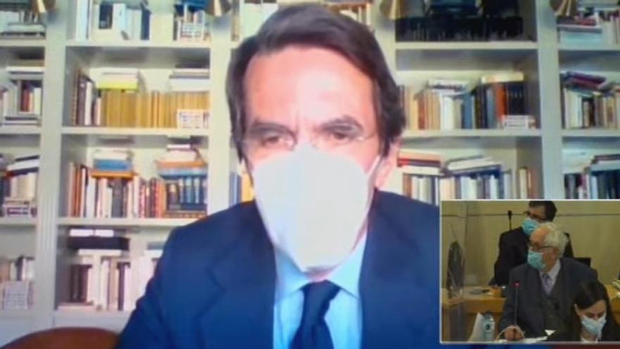 Los frases de Aznar y Rajoy en el juicio de la caja b del PP