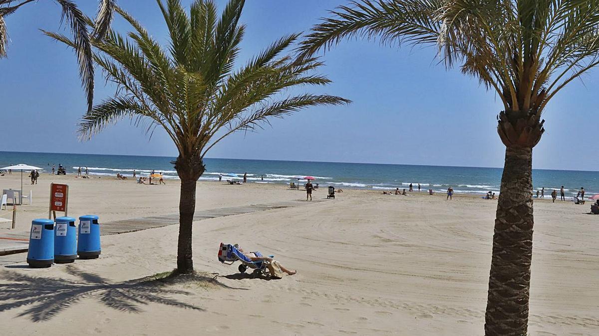 La playa de Gandia, en una imagen tomada el pasado mes de junio.   LEVANTE-EMV