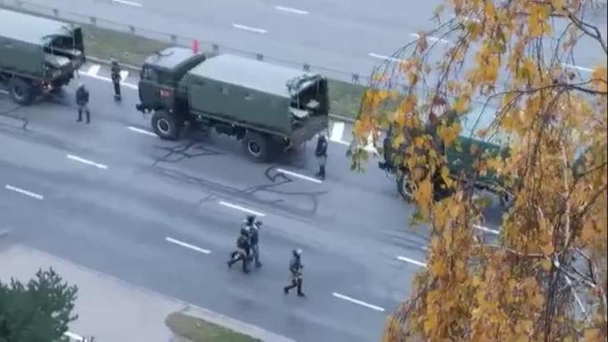 Más 550 detenidos durante una nueva jornada de protestas en Bielorrusia
