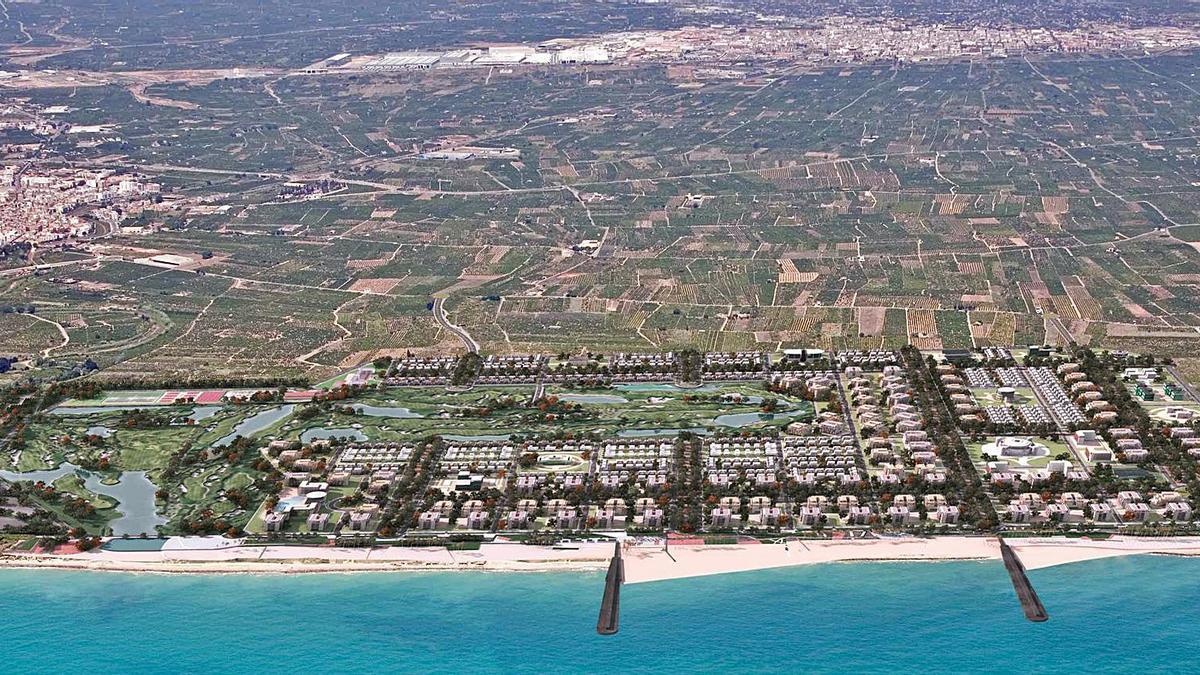 Figuración del PAI Sant Gregori Golf de Burriana, el segundo más grande que se proyectó la pasada década.  | LEVANTE-EMV