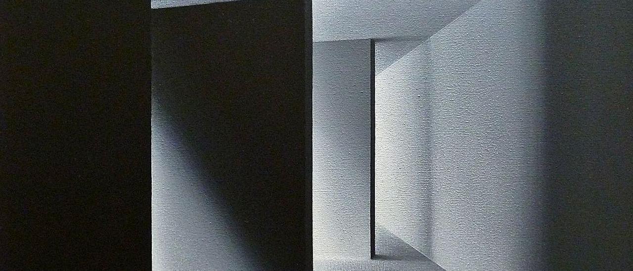 """Empty walls"" (50 x 50 cm.), acrílico sobre lienzo."
