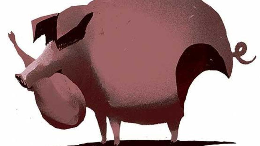 Tierra y mar: cerdo y oricio