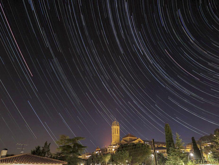 Imatge nocturna de Moià.