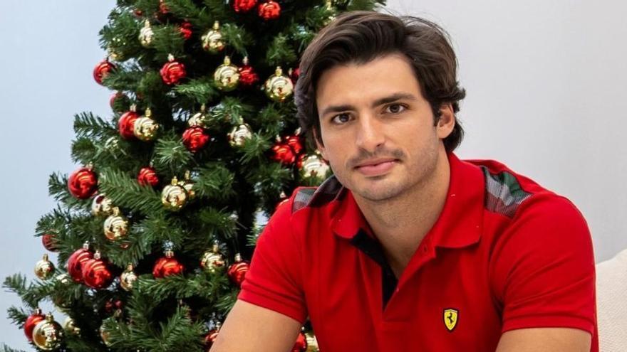 """Carlos Sainz, en su presentación con Ferrari: """"Nunca olvidaré este día"""""""