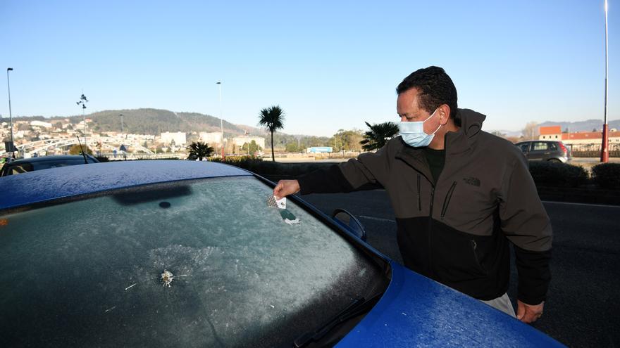El tiempo en Galicia | Temperaturas bajo cero hielan la comarca de Pontevedra