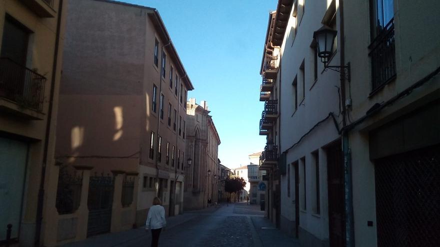 La Rúa de los Francos, esta mañana de domingo.