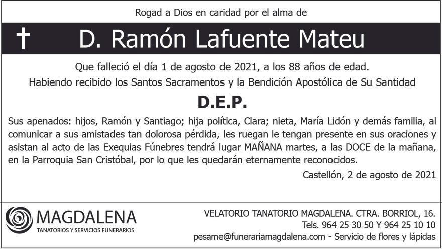 D. Ramón Lafuente Mateu