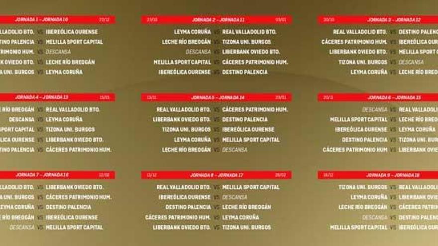 El Leyma inicia la liga visitando al Tizona de Burgos el 16 de octubre