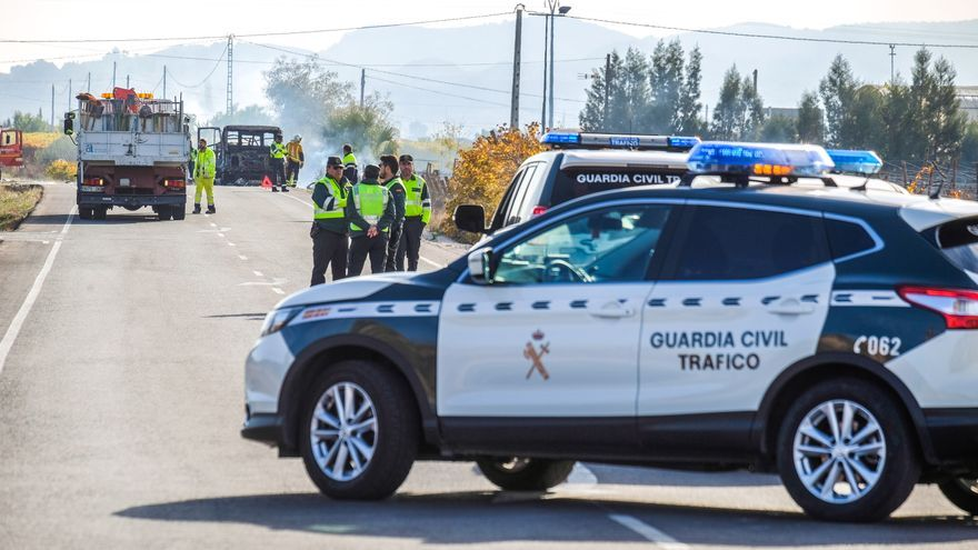 Seis mujeres heridas en una colisión de tres turismos en La Romana