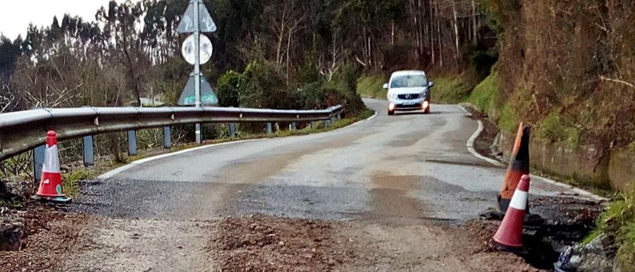 Estado actual de uno de los tramos de la carretera.