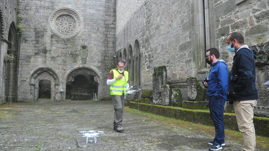 Un dron en Santo Domingo para crear un video 3D de realidad virtual del monumento
