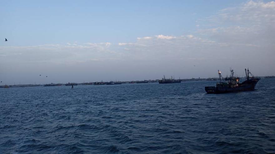 Barcos gallegos retenidos en Mauritania