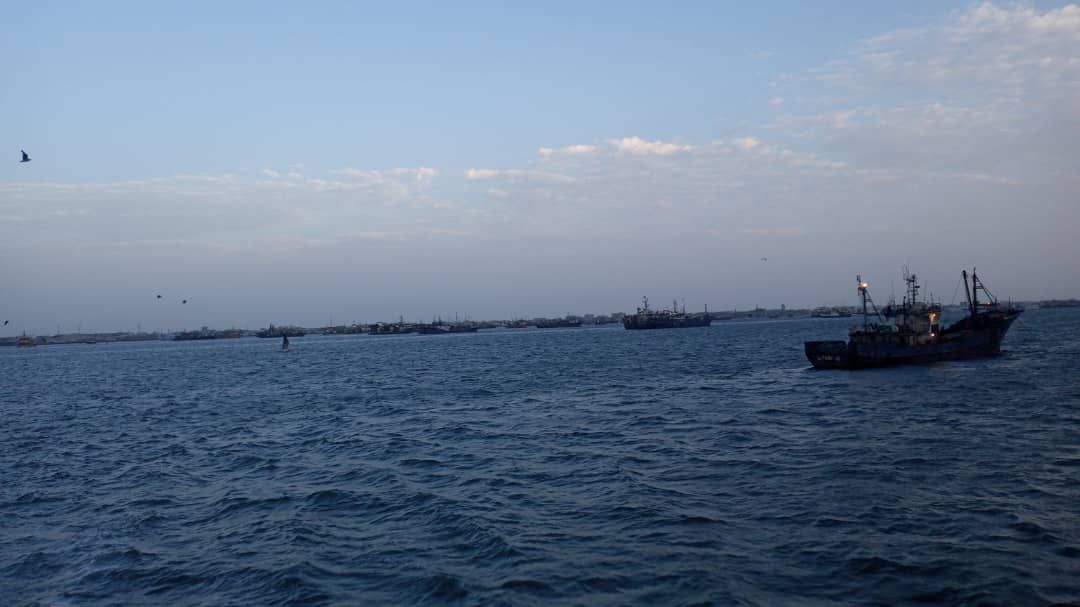 Pesqueros fondeados frente a Nouadhibou // Cedida