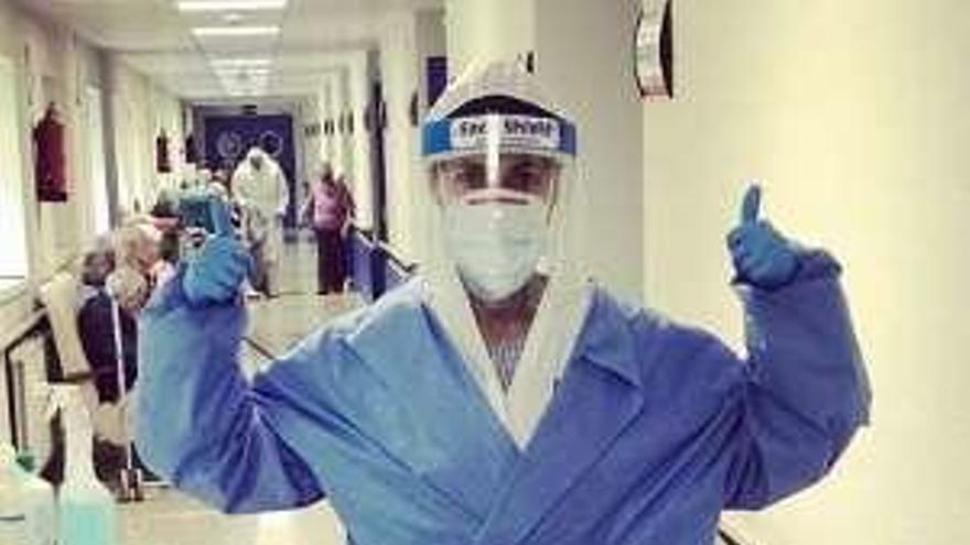 La actriz Nerea Barros trabaja como enfermera para combatir el coronavirus
