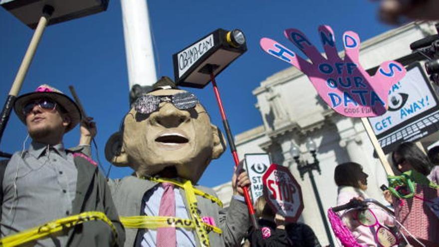 Manifestación en Washington contra el espionaje
