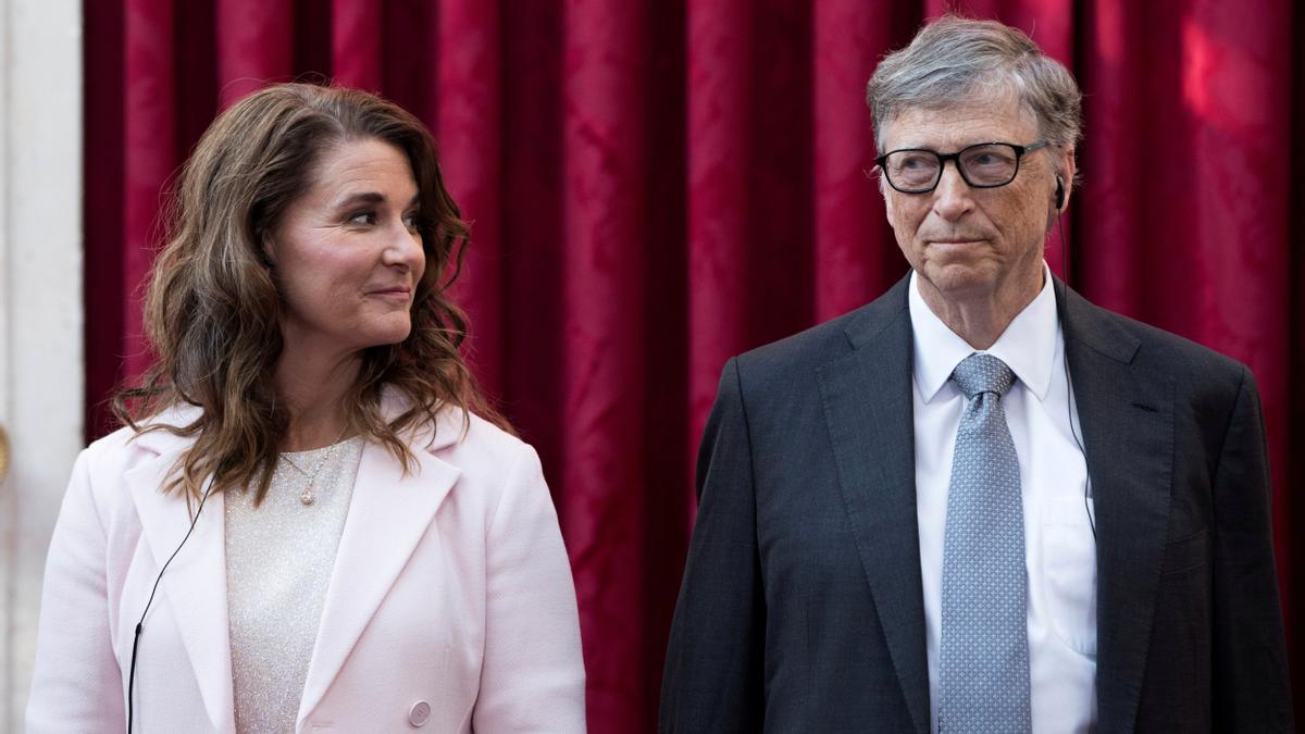Melinda Gates y Bill Gates.