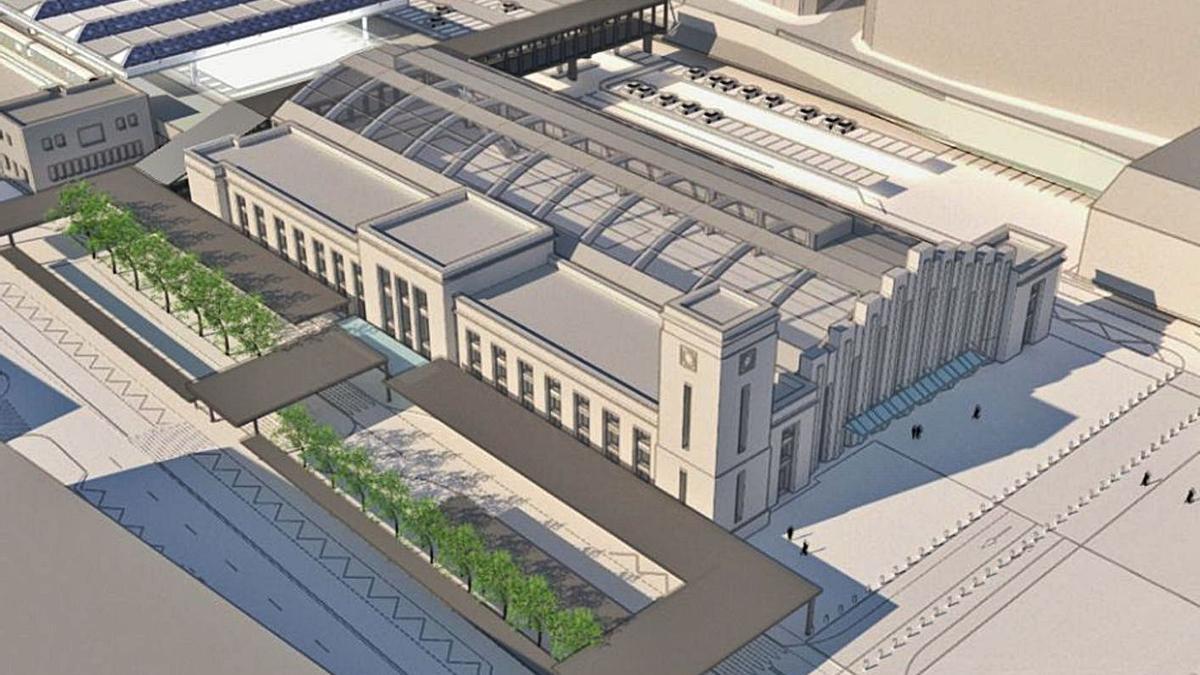 Imagen virtual del proyecto de estación intermodal de A Coruña