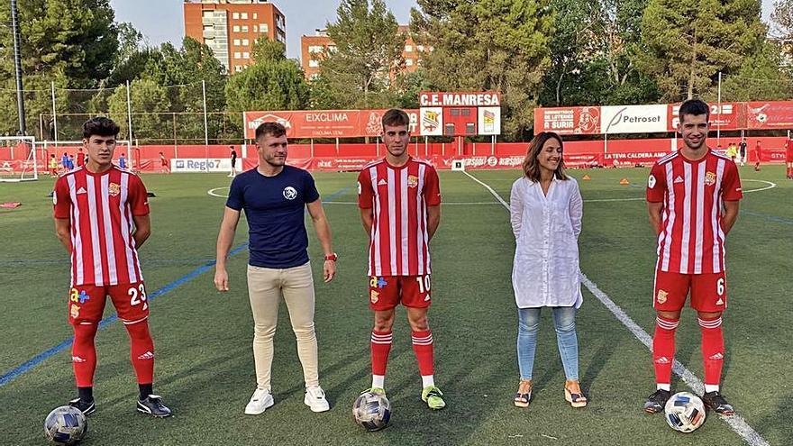 El CE Manresa puja al primer equip Biel Rodríguez, Artigas i Mellado