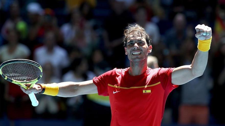 Nadal sufre ante Nishioka para meter a España en los cuartos de la Copa ATP