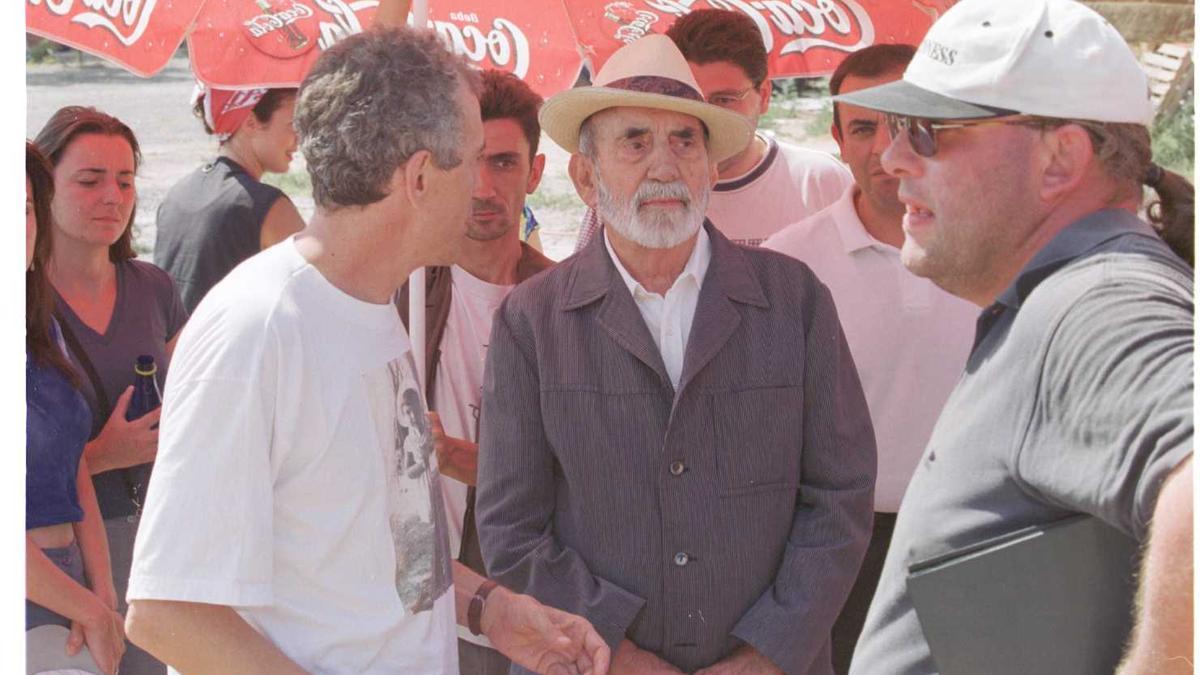 Ferrandis, durante un rodaje en València los últimos años de su vida.