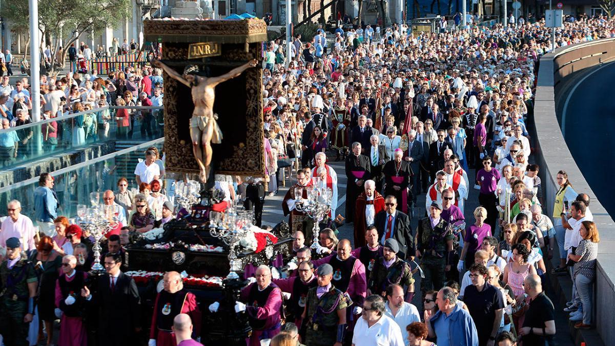 Edición anterior de la procesión del Cristo de la Victoria en Vigo