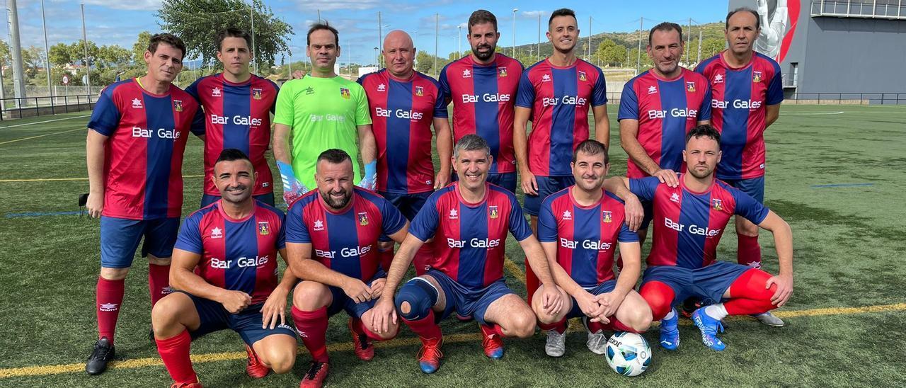 Equipo de veteranos del Alcalá 2021/22.
