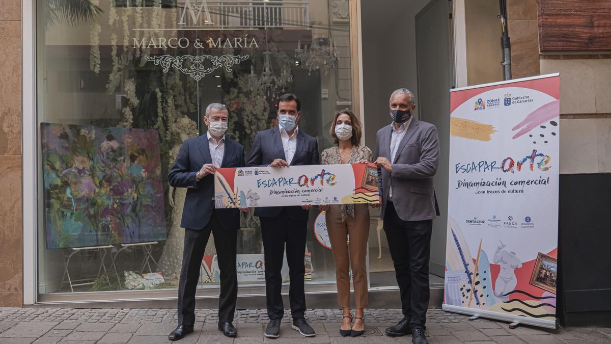 Presentación de la iniciativa Escapararte en Santa Cruz de Tenerife